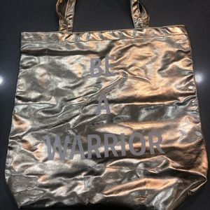 """Gold """"BE A WARRIOR"""" tote bag"""